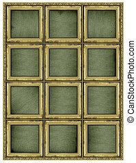 Colossal golden frame