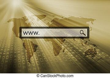 www. written in the search bar