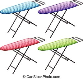 Ironing board - Illustration of ironing board in four...