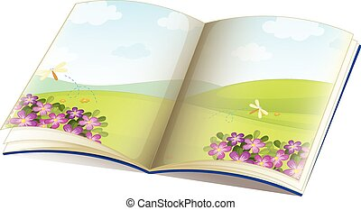 Storybook - Illustration of a single storybook with pictures