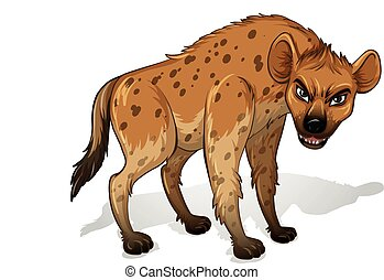 Hyena - Illustration of a close up hyenas