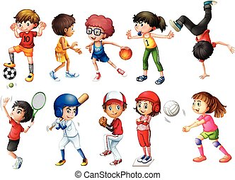 Sports - Illustration of children playing sports