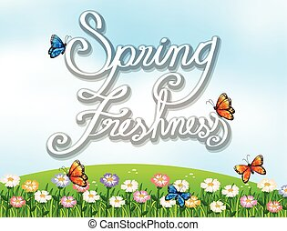 A spring freshness template