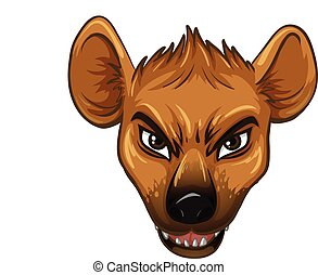 Hyena - Illustration of a face of a hyena