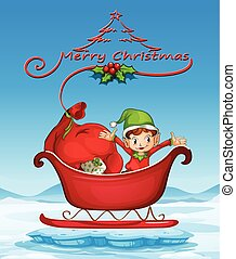 Christmas card - Illustration of a christmas card with an...