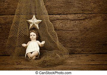Religious Christmas Baby Jesus - Christmas Child Jesus on a...