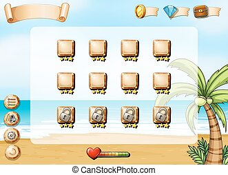 Computer game - Illustration of a computer game with ocean...