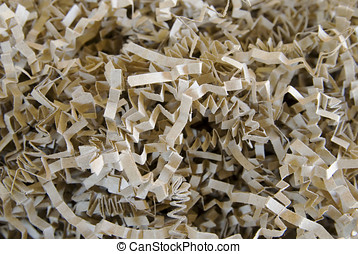 Crinkled Shred Background - Close up of shredded, crinkled...