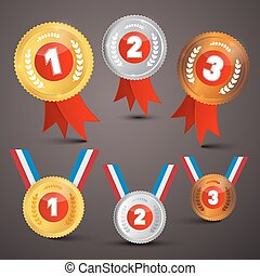 Medals Awards Vector Set