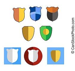 Shield design icon set