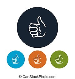 Icon hand giving thumbs up , vector illustration - Icon hand...