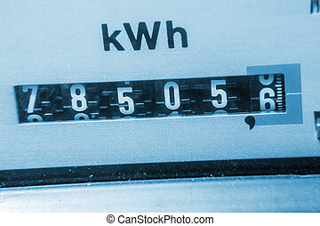 electricity meter background (kwh)