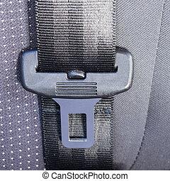 asiento, cinturón,