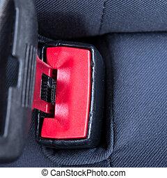 cierre, asiento, cinturón