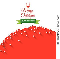 Abstract Christmas Greeting Card vector