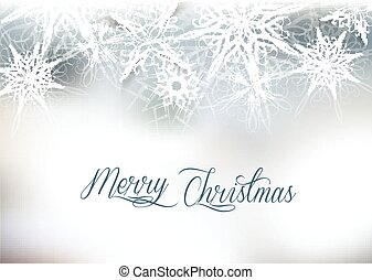 Christmas silver snow background with space for text