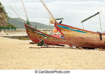 Old fishing boat in Vietnam