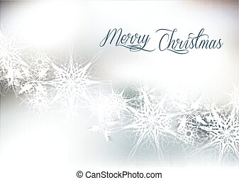 Christmas silver snow background