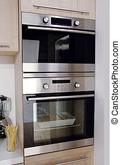 modern kitchen with oven