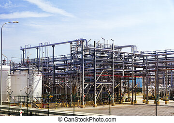 Oil Refinery factory.