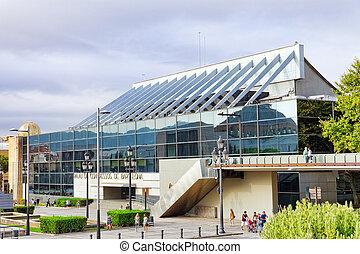 Palacio de Congresos in Barcelona near Placa De Espanya in...