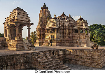 Khajuraho Temples - Madhya Pradesh - India - Jian and Hindu...