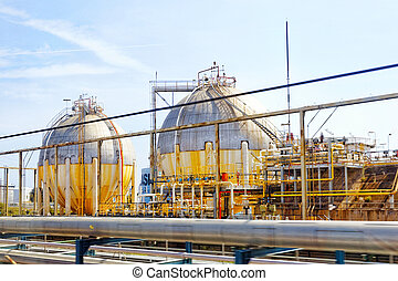 Oil Refinery factory. - Big oil Refinery factory.