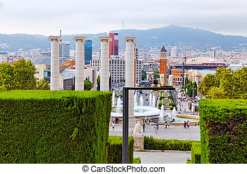View in Barcelona on Placa De Espanya. - View in Barcelona...
