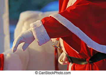 Santas outstretched hand that welcomes all children of the...
