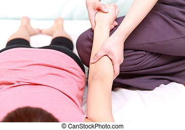 arm massage - woman getting an arm massage