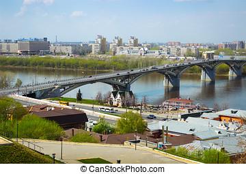 Bridge over the river Oka, Nizhny Novgorod, Russia - Nizhny...