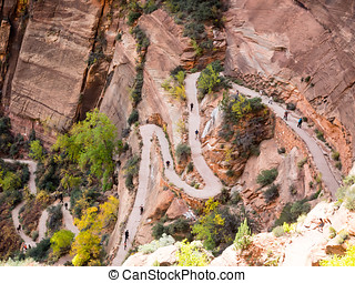 Path to Angels Landing in Zion national park
