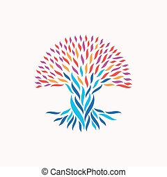 Unity abstract tree concept - Abstract tree illustration....