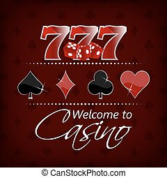 Casino vector background - Casino background with lucky...