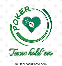 Poker poster background - Poker background with heart symbol...