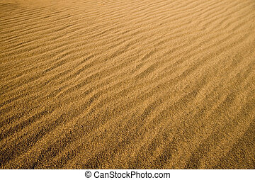 Sand Dunes - Texture and shadow on the desert sand dunes