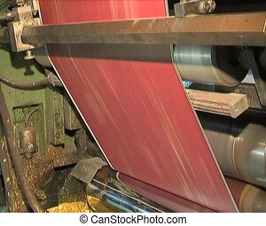 Plant for the production of paper products (paperhangings,...