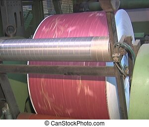 Plant for the production of paper products paperhangings,...