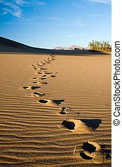 Sand Footprints - Footprints in the desert or beach sand