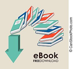ebook design , vector illustration