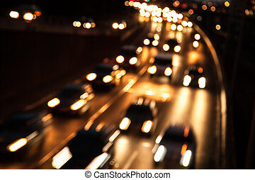 traffic on highway (bokeh effect)