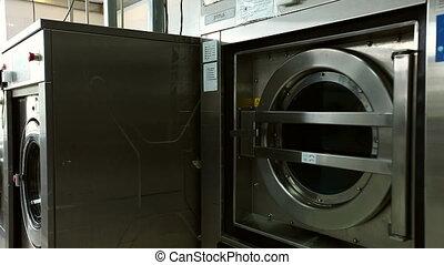 Rattling drum of washing machine, close-up - Rattling drum...
