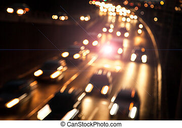 cars on highway with lensflare