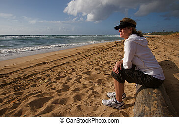 Hawaiian Beach - Tropical Hawaiian beach and crashing waves...