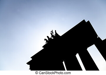 brandenburger gate and blue sky in berlin