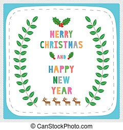 MC and HNY greeting card17 - Card for Merry Christmas and...