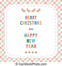 MC and HNY greeting card18 - Card for Merry Christmas and...