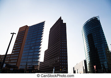 potsdamer platz - buildings at potsdamer platz in berlin