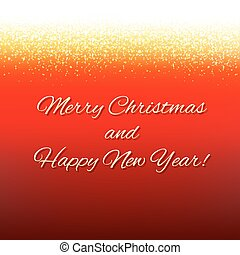 Red Xmas Card With Text