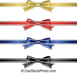 Silk Ribbons Set, Vector Illustration
